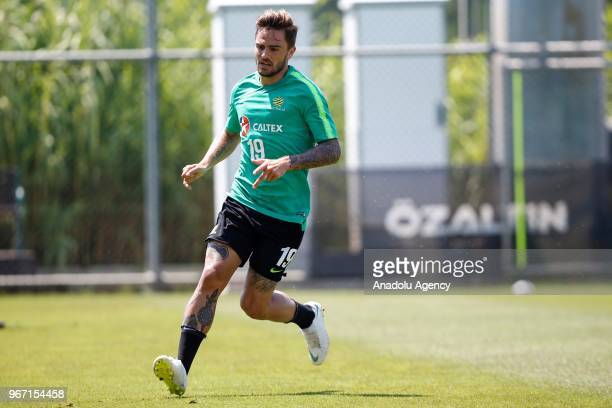 Josh Risdon of Australia attends his team's training session ahead of the Russia 2018 World Cup on June 04 2018 in Antalya Turkey