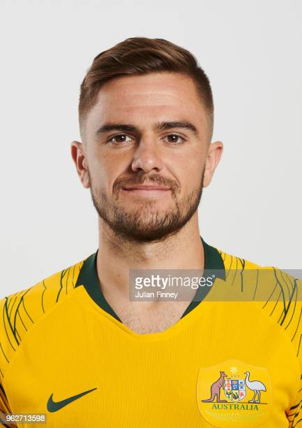 Josh Risdon of Australia poses during the Australia 'Socceroos' Kit Launch on March 24 2018 in Oslo Norway