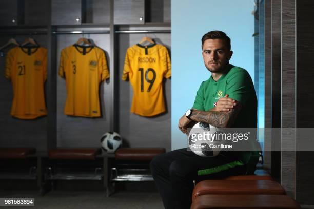 Josh Risdon of Australia poses during the Australian Socceroos Media Opportunity at the Gloria Football Club on May 23 2018 in Antalya Turkey