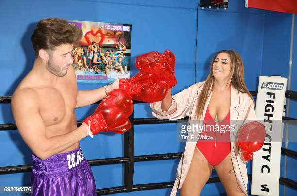 Josh Ritchie and Chloe Ferry attend an Ex on the beach photocall to launch series 7 at the Fight City Gym on June 20 2017 in London England