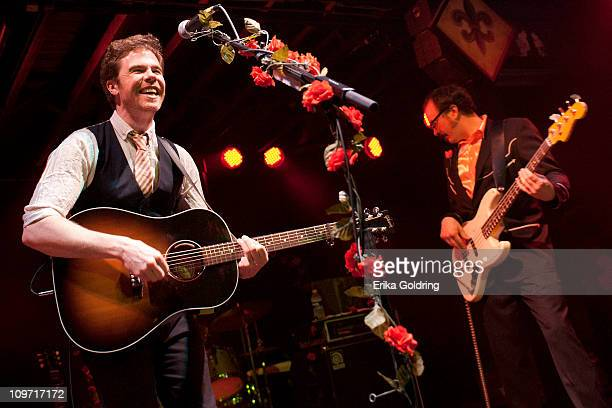 Josh Ritter and Zack Hickman perform at Tipitina's on March 1 2011 in New Orleans Louisiana