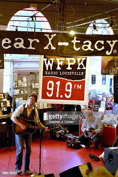 Josh Ritter attends a live WFPK broadcast at Ear XTacy Records on May 17 2010 in Louisville Kentucky