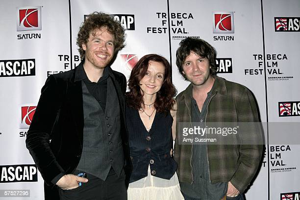 Josh Ritter Patti Griffin and Tim Easton attend Tribeca/ASCAP Music Lounge at the Canal Room May 3 2006 in New York