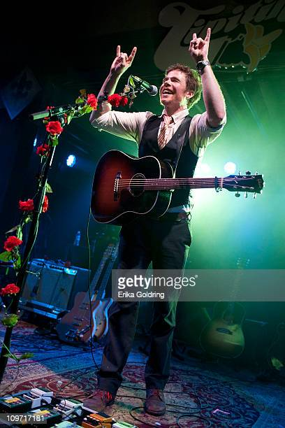 Josh Ritter performs at Tipitina's on March 1 2011 in New Orleans Louisiana