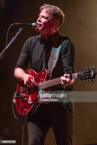 Josh Ritter performs during the Green River Festival 2018 at Greenfield Community College on July 13 2018 in Greenfield Massachusetts