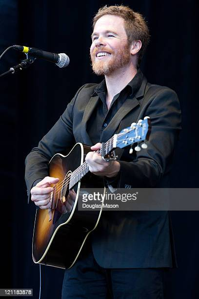 Josh Ritter performs during the Outside Lands Music Art Festival 2011 on August 14 2011 in San Francisco California