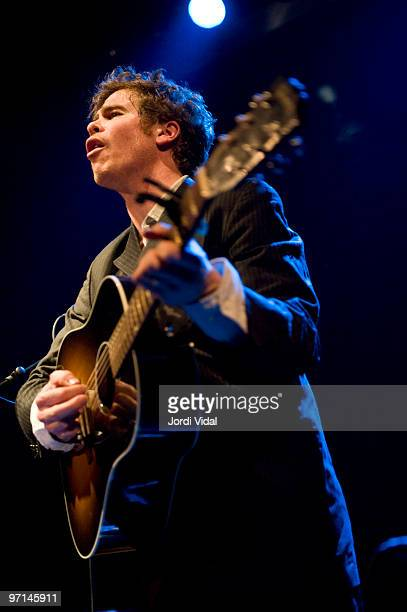 Josh Ritter performs on stage at Sala Apolo on February 27 2010 in Barcelona Spain