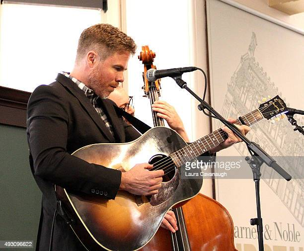 Josh Ritter performs songs from his new CD Sermon On The Rocks at Barnes Noble Union Square on October 17 2015 in New York City