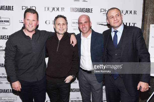 "Josh Robbins, Jason Binn, Jonathan Greller and Ronn Torossian attend Tony Robbins' Birthday celebration and book launch of ""UNSHAKEABLE"" presented by..."