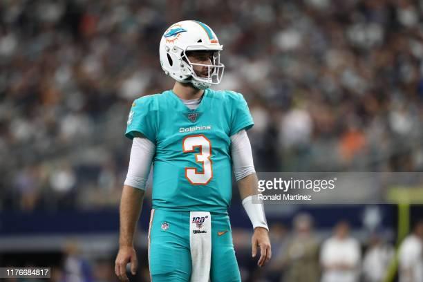 Josh Rosen of the Miami Dolphins at AT&T Stadium on September 22, 2019 in Arlington, Texas.