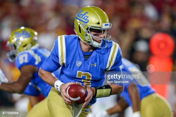 Josh Rosen of the UCLA Bruins during a college football game between the UCLA Bruins vs USC Trojans on November 18 2017 at the Los Angeles memorial...