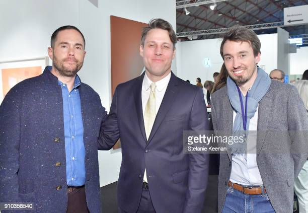 Josh Roth Tim Fleming of Art Los Angeles Contemporary and Francois Ceysson at OPENING NIGHT   ART LOS ANGELES CONTEMPORARY 9TH EDITION at Barkar...