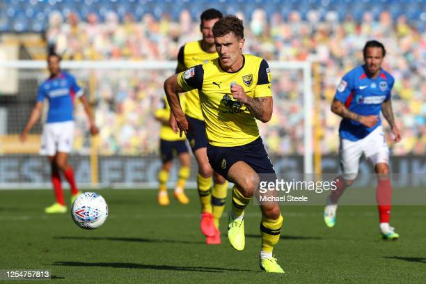 Josh Ruffels of Oxford United during the Sky Bet League One Play Off Semifinal 2nd Leg match between Oxford United and Portsmouth FC at Kassam...