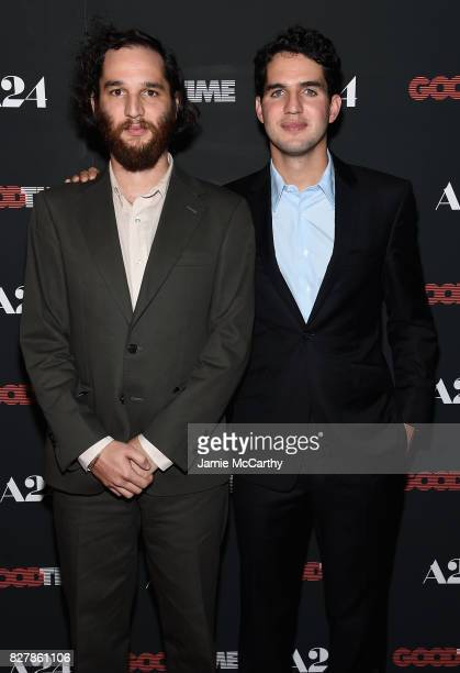 Josh Safdie and Ben Safdie attend 'Good Time' New York Premiere at SVA Theater on August 8 2017 in New York City