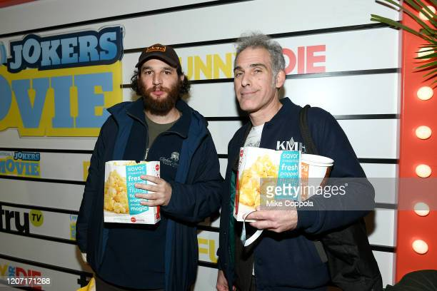 Josh Safdie and Ronald Bronstein attend the Impractical Jokers The Movie Premiere Screening and Party on February 18 2020 in New York City 739100