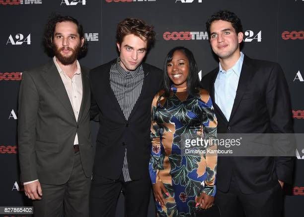 Josh Safdie Robert Pattinson Taliah Webster and Ben Safdie attend 'Good Time' New York Premiere at SVA Theater on August 8 2017 in New York City