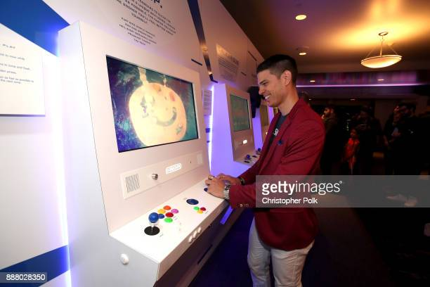 Josh Sanderson creator of Mr Shifty attends the 'Indie Game Jam Arcade Presented by Schick Hydro' at The Game Awards 2017 at Microsoft Theater on...
