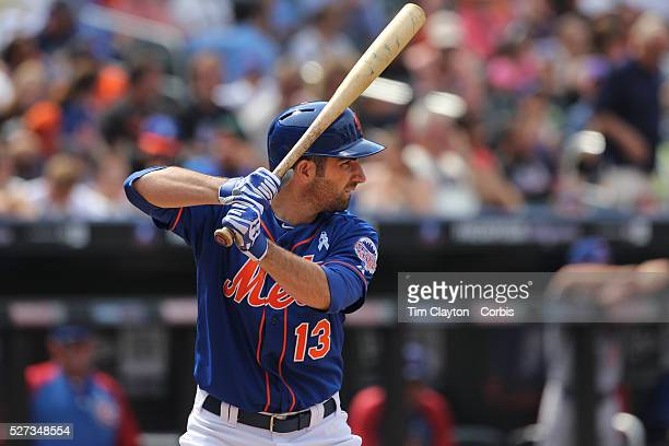 Josh Satin, New York Mets, at bat during the New York Mets V Chicago Cubs Baseball game at Citi Field, Queens, New York. USA. 16th June 2013. Photo...