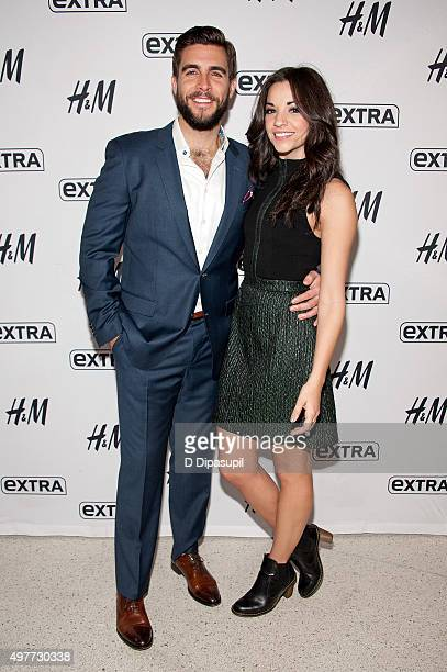 Josh Segarra and Ana Villafane visit 'Extra' at their New York Studios at HM in Times Square on November 18 2015 in New York City