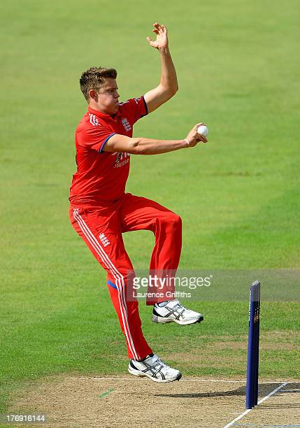 Josh Shaw of England in action during the Triangular Under 19 Series Final between England U19 and Pakistan U19 at Trent Bridge on August 19 2013 in...
