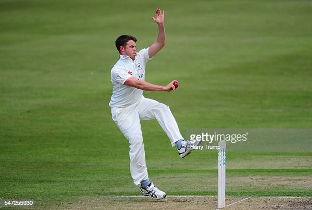 Josh Shaw of Gloucestershire during Day Two of the Specsavers County Championship Division Two match between Gloucestershire and Essex at The College...