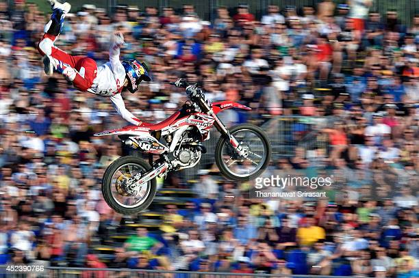 Josh Sheehan competes during semifinal round for the Red Bull XFighters World Tour on July 19 2014 in Munich Germany
