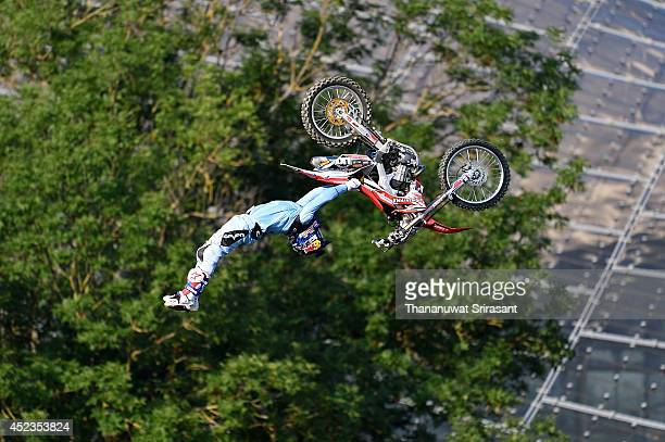 Josh Sheehan of Australia with Honda 450 competes during qualifying for the Red Bull XFighters World Tour on July 18 2014 in Munich Germany