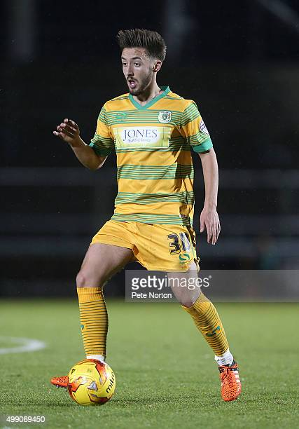 Josh Sheenan of Yeovil Town in action during the Sky Bet League Two match between Northampton Town and Yeovil Town at Sixfields Stadium on November...