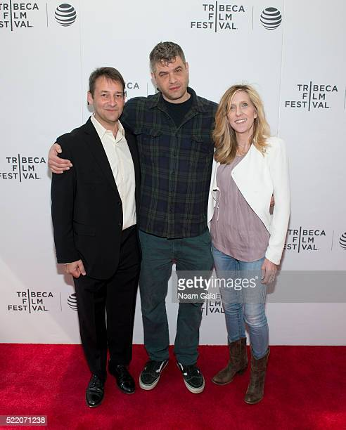 Josh Shelov Jonathan Cramer and Maura Mandt attend the 'We Are' premiere during Tribeca Film Festival Shorts Past Imperfect at Regal Battery Park...