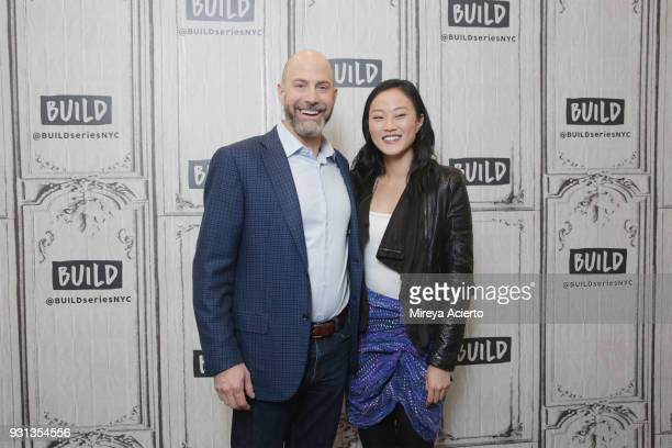 CEO Josh Silver and Melody Hahm during Yahoo Finance Breakout Breakfast at Build Studio on March 13 2018 in New York City