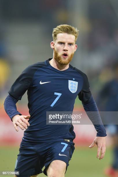 Josh Sims of England looks on during the U20 Elite League match between Poland and England at the Municipal Stadium on March 22 2018 in BielskoBiala...