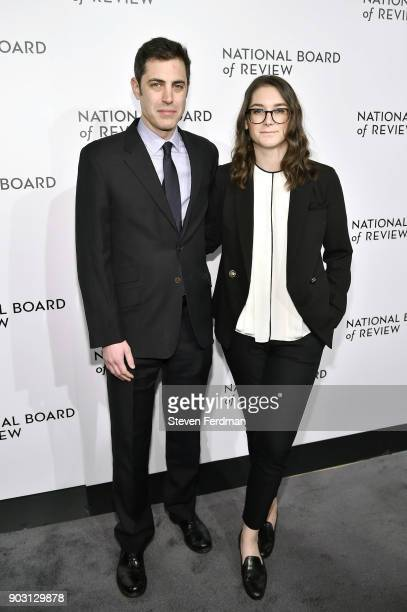 Josh Singer and Liz Hannah attend the 2018 The National Board Of Review Annual Awards Gala at Cipriani 42nd Street on January 9 2018 in New York City