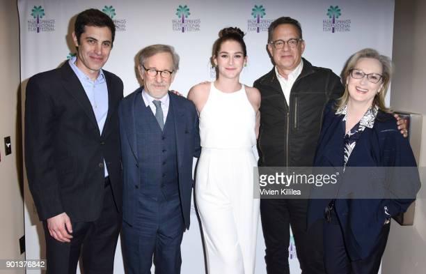 Josh Singer Steven Spielberg Liz Hannah Tom Hanks and Meryl Streep attend the 29th Annual Palm Springs International Film Festival Opening Night...