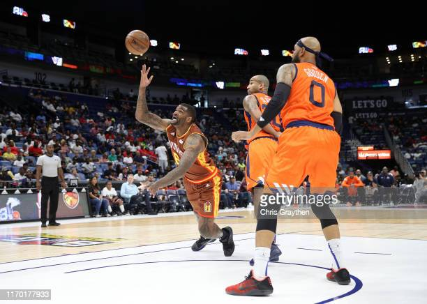 Josh Smith of Bivouac goes for a rebound during the BIG3 Playoffs at Smoothie King Center on August 25, 2019 in New Orleans, Louisiana.