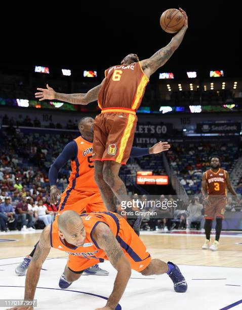 Josh Smith of Bivouac goes up for a dunk shot during the BIG3 Playoffs at Smoothie King Center on August 25, 2019 in New Orleans, Louisiana.