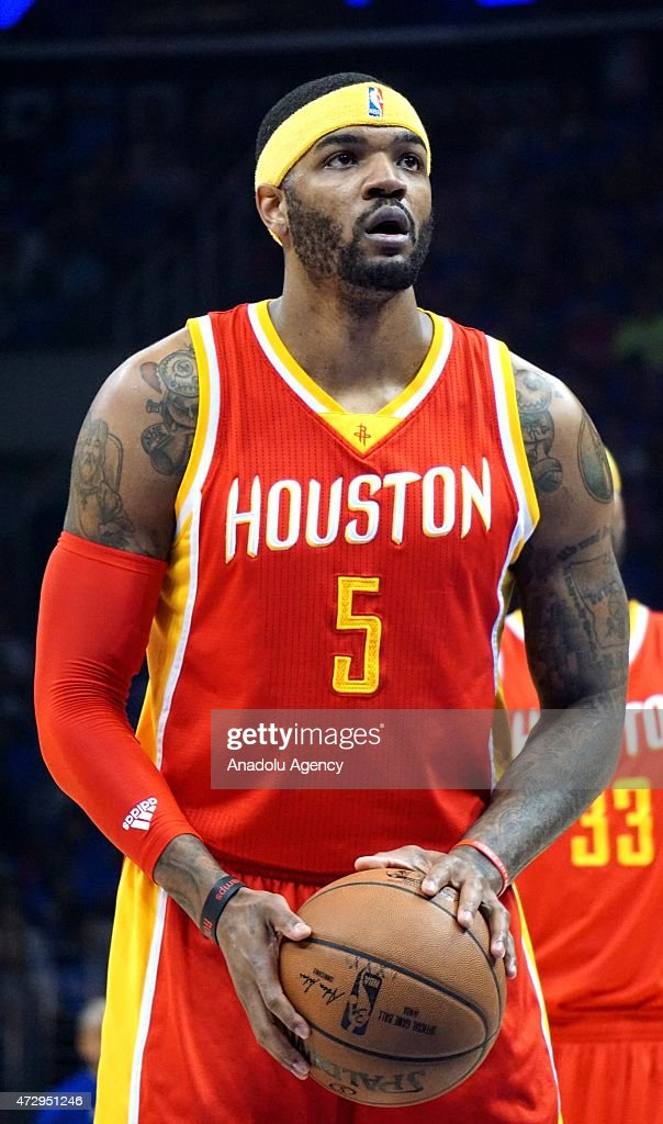 Josh Smith of Houston Rockets is seen during the NBA playoff game between Houston Rockets and Los Angeles Clippers at the Stapless Center, Los Angeles on May 10, 2015.