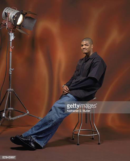 Josh Smith of the Atlanta Hawks poses for a NBA AllStar portrait on February 18 2005 in Denver Colorado NOTE TO USER User expressly acknowledges and...