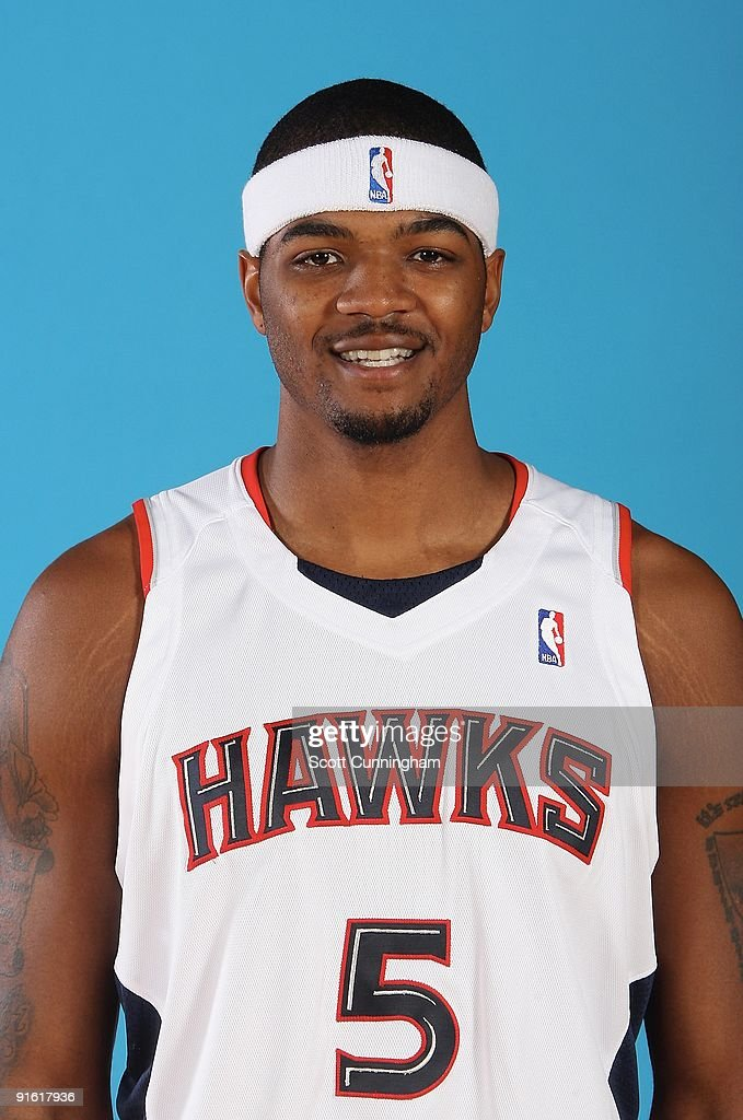 Josh Smith #5 of the Atlanta Hawks poses for a portrait during 2009 NBA Media Day on September 28, 2009 at Philips Arena in Atlanta, Georgia.