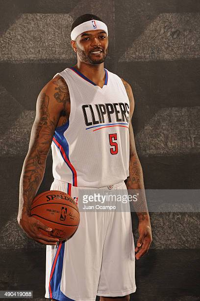 Josh Smith of the Los Angeles Clippers poses for a portrait during media day at the Los Angeles Clippers Training Center on September 25 2015 in...