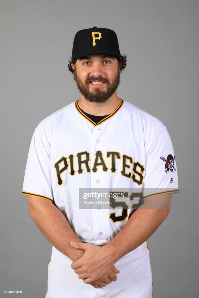 Josh Smoker #53 of the Pittsburgh Pirates poses during Photo Day on Wednesday, February 21, 2018 at LECOM Park in Bradenton, Florida.