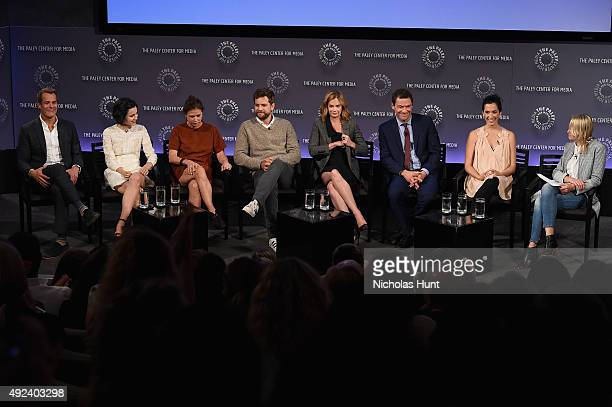 Josh Stamberg Julia Goldani Telles Maura Tierney Joshua Jackson Ruth Wilson Dominic West and Sarah Treem of The Affair speak with Sara Vilkomerson at...