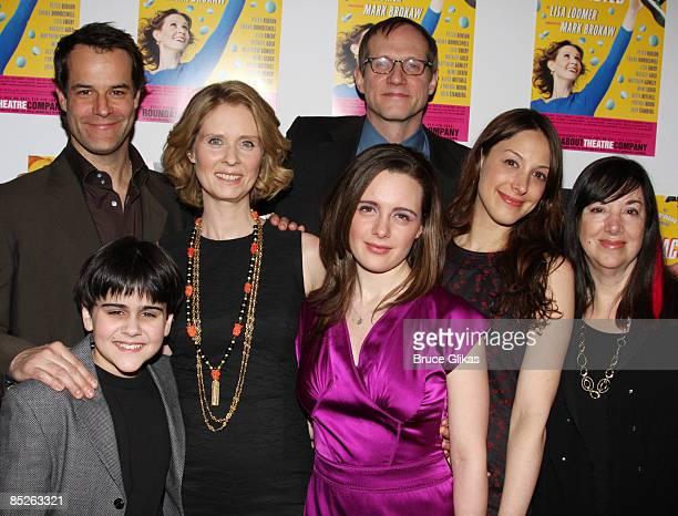 Josh Stamberg Matthew Gumley Cynthia Nixon Shana Dowdeswell director Mark Brokaw Natalie Gold and playwright Lisa Loomer pose the opening night...