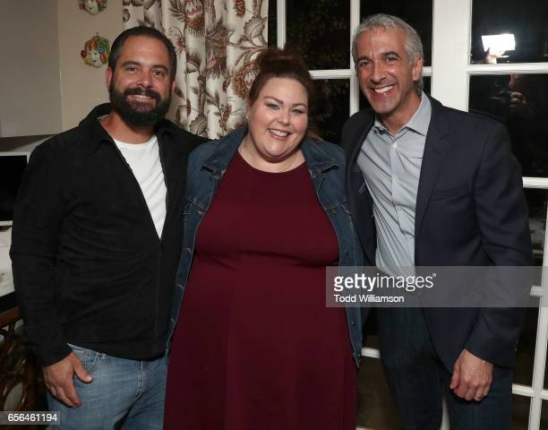 Josh Stancil Chrissy Metz and Scott Mantz attend a party for the 20th Anniversary of the Savannah Film Festival hosted by CAA Agent Tracy Brennan and...