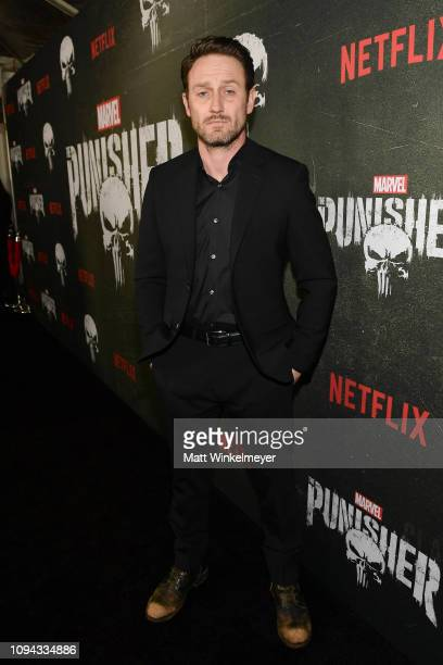 Josh Stewart attends Marvel's The Punisher Los Angeles Premiere at ArcLight Hollywood on January 14 2019 in Hollywood California