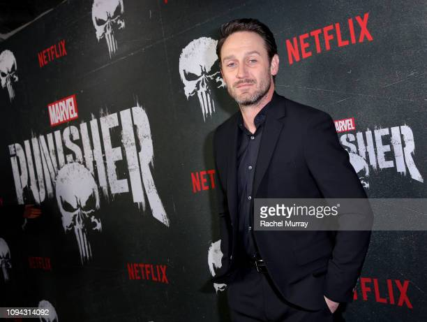 Josh Stewart attends Marvel's The Punisher Seasons 2 Premiere at ArcLight Hollywood on January 14 2019 in Hollywood California
