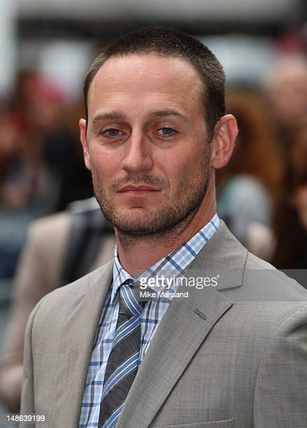 Josh Stewart attends the European premiere of The Dark Knight Rises at Odeon Leicester Square on July 18 2012 in London England