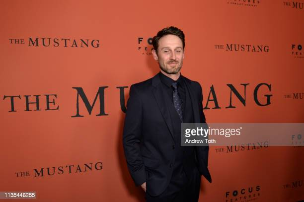 Josh Stewart attends the premiere of Focus Features' The Mustang at ArcLight Hollywood on March 12 2019 in Hollywood California