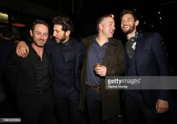 Josh Stewart Jon Bernthal Steve Lightfoot and Ben Barnes attend Marvel's The Punisher Seasons 2 Premiere at ArcLight Hollywood on January 14 2019 in...