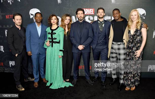 Josh Stewart Royce Johnson Amber Rose Revah Giorgia Whigham Jon Bernthal Ben Barnes Jason R Moore and Deborah Ann Woll arrive at Marvel's The...