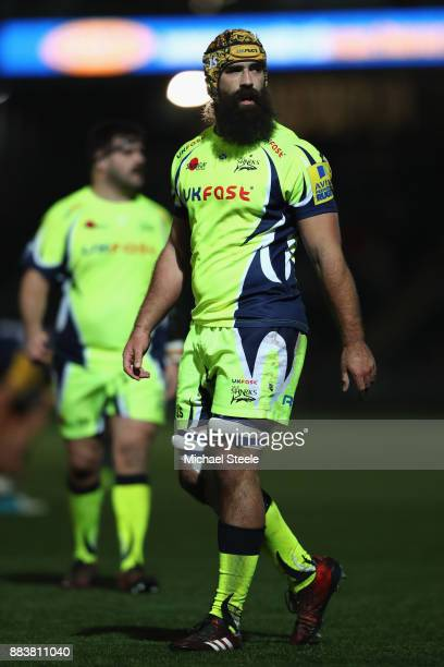Josh Strauss of Sale during the Aviva Premiership match between Worcester Warriors and Sale Sharks at Sixways Stadium on December 1 2017 in Worcester...